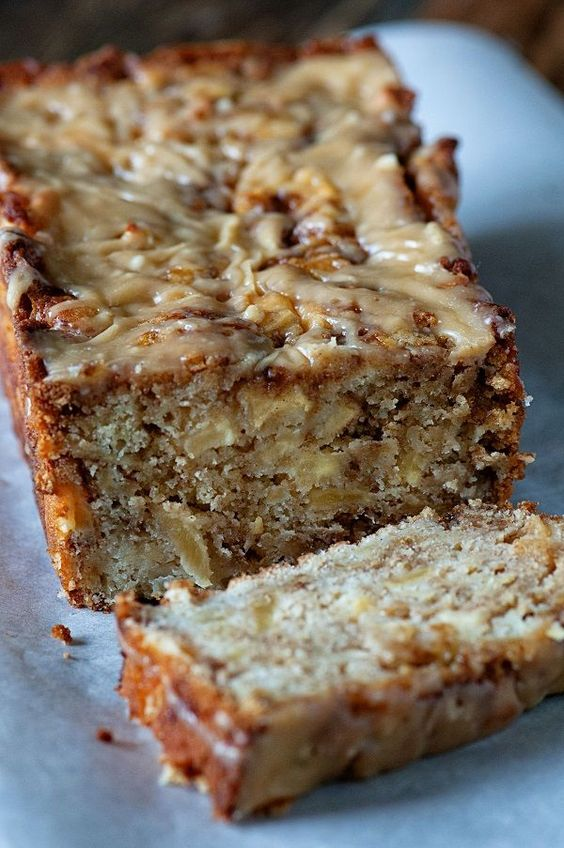 Pin Ups and Link Love: Salted Caramel Apple Fritter Bread   knittedbliss.com