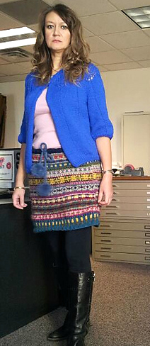 Modification Monday: Stashbuster Fair Isle Skirt | knittedbliss.com