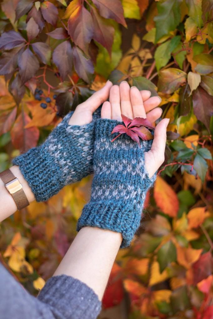 Free Knitting Pattern - Taddle Creek Mitts | knittedbliss.com