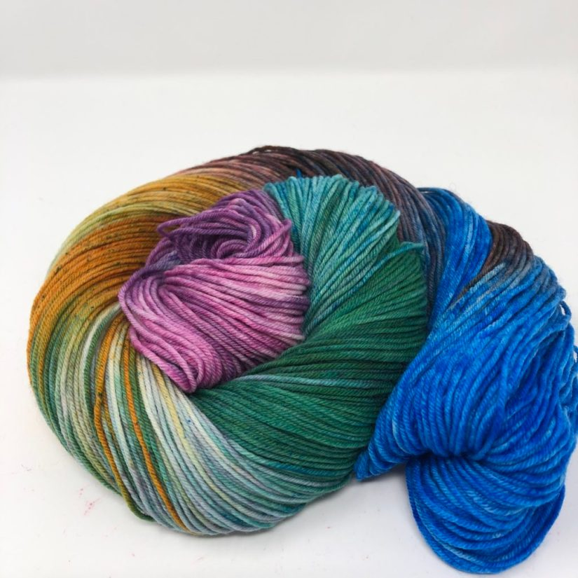Skein of our National Parks colorway Death Valley in Sock