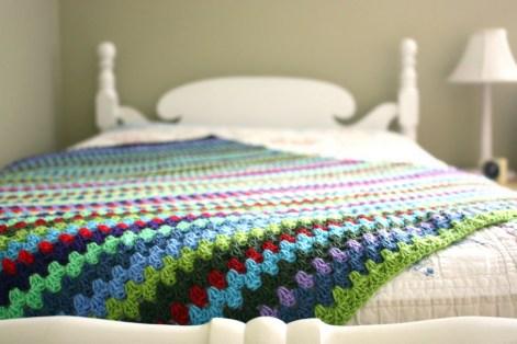 granny stripe blanket link text