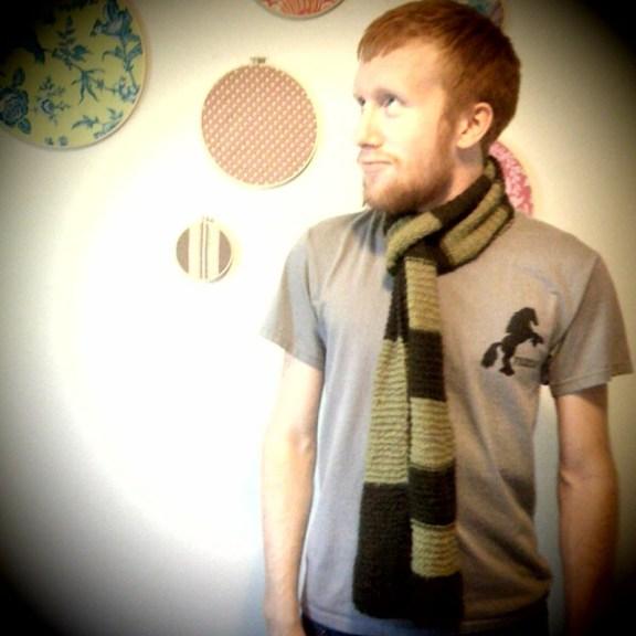 Drew's first scarf