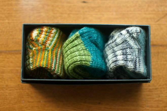 sock trio