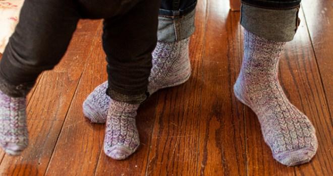 mama and baby feet