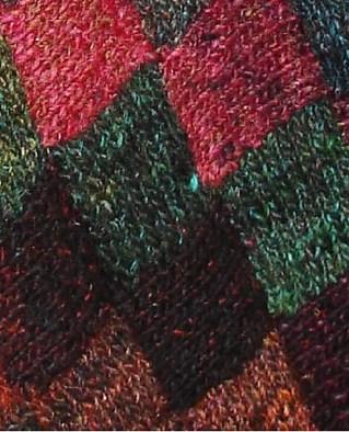 Detail of the Entrelac technique