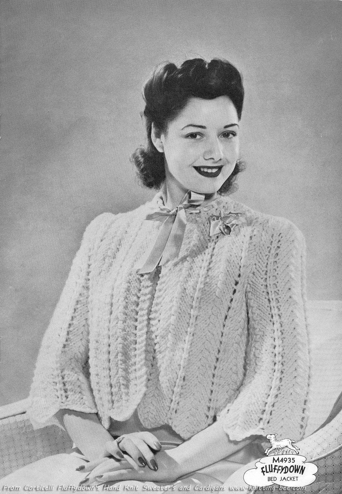 Bed Jackets Patterns : jackets, patterns, Jacket, Vintage, Knitting