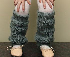 Free Pattern   Little Girl s Leg Warmers   Knitting
