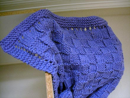 Quick Easy Knitted Baby Blanket Knitting