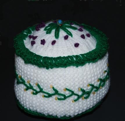 knit cake