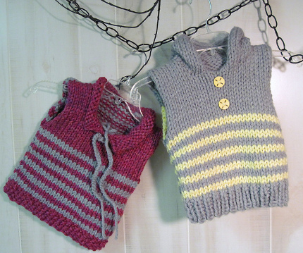 Another Free Ish Pattern Striped Toddler Vest Knitting