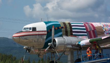 yarn bomb plane yukon