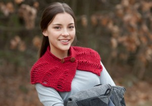 buttoned neck scarf classic elite