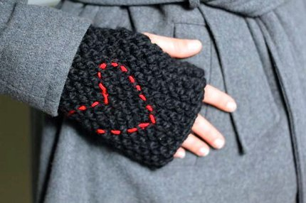fingerless gloves kollabora