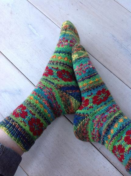 flower power socks