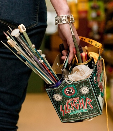 beer box craft caddy