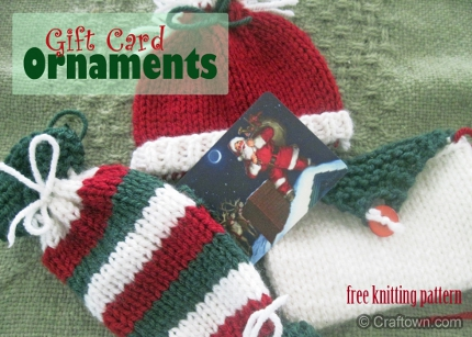 Knit Some Simple Holiday Gift Card Holders – Knitting