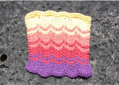 susnset strip washcloth lily