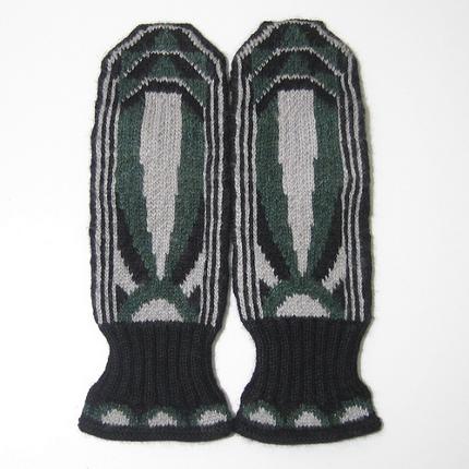 art deco mittens