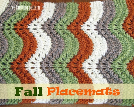 Knit Colorful Placemats For Fall Knitting