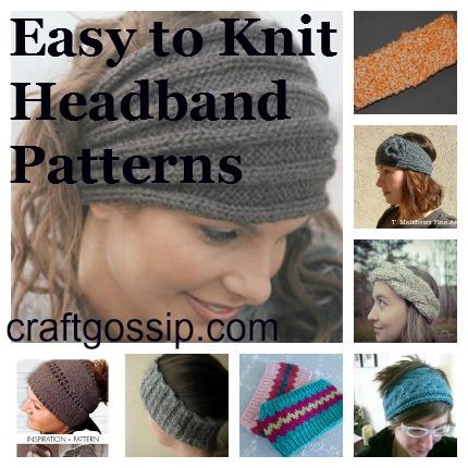 headband knitting patterns