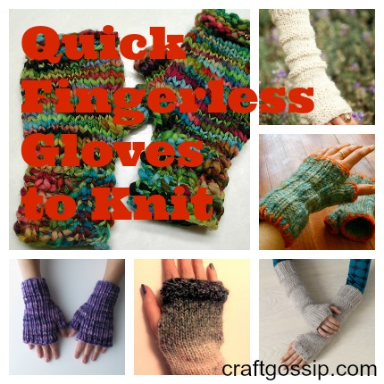 You Still Have Time to Knit: Simple Fingerless Gloves
