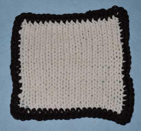crochet border knitting