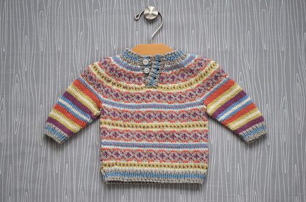 colorwork baby sweater