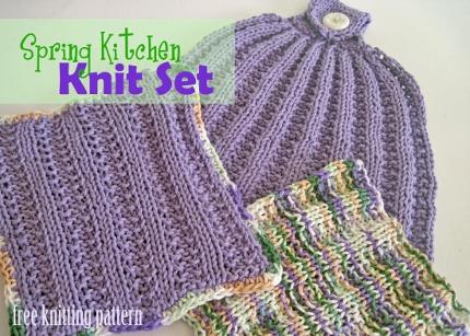 spring kitchen knitting set