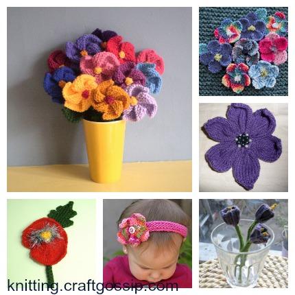A Dozen Fun Flowers to Knit