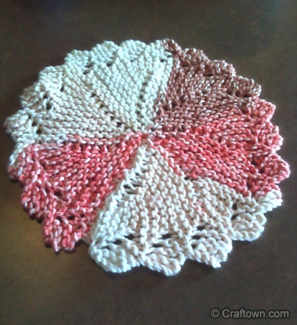 pinwheel dishcloth craftown