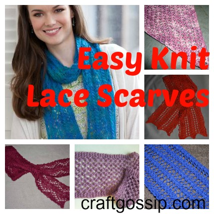 easy knit lace scarves