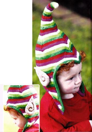 free pattern for knit elf ears