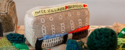 British knitters and crocheters replicate town