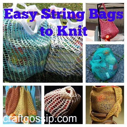 Knitting Pattern For A String Bag : Free Patterns for String Bags   Knitting