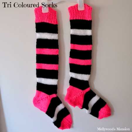 knit striped socks