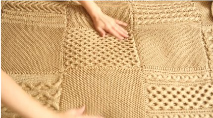 CreativeBug, Edie Eckman and Red Heart's 12-week cable afghan knitalong course