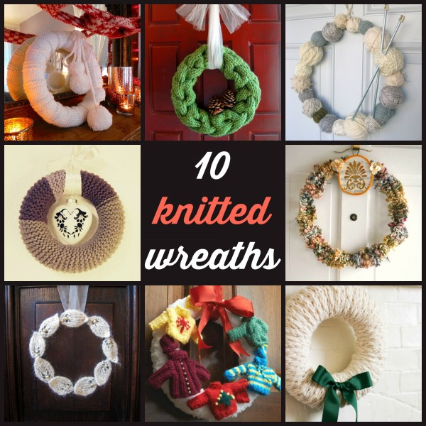 10 Knitted Wreaths Knitting