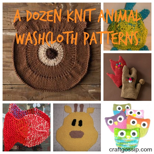 A dozen ways to clean up with knit animal washcloths. You're welcome.