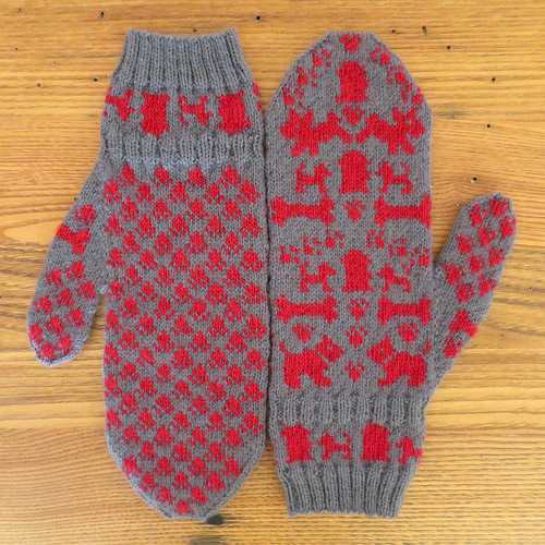 Knitting Pattern Dog Motif : Knit Mitts for the Dogs   Knitting
