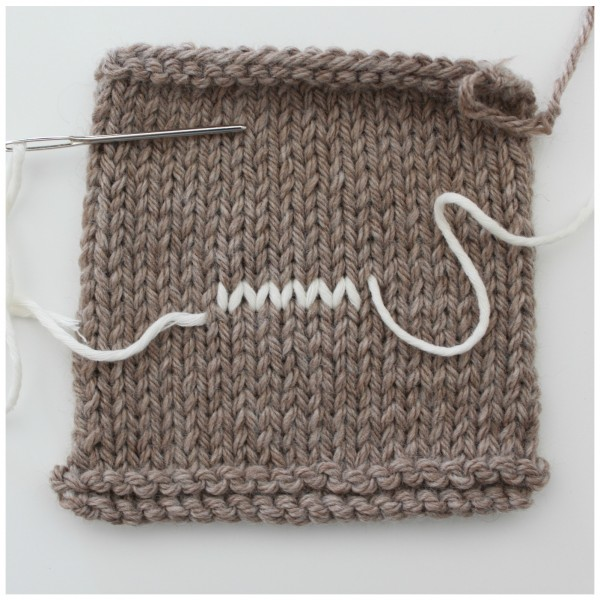 Use duplicate stitch to weave in ends (and other tips).