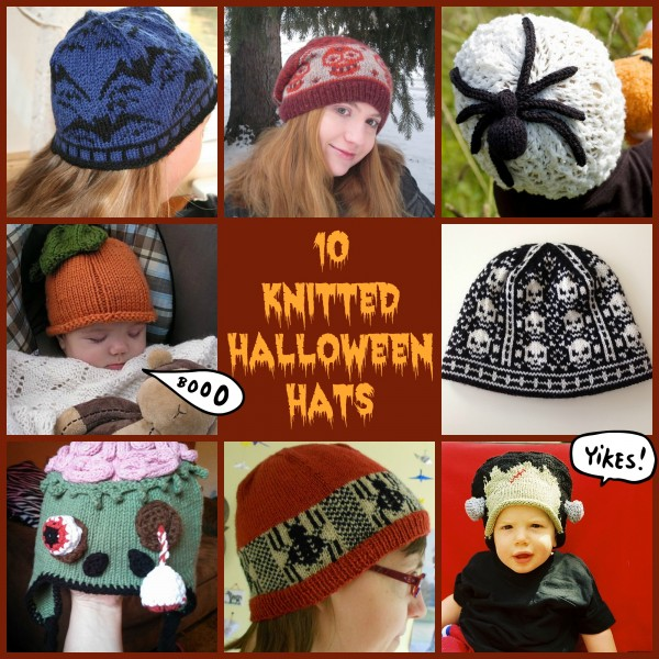 10 knitted halloween hats
