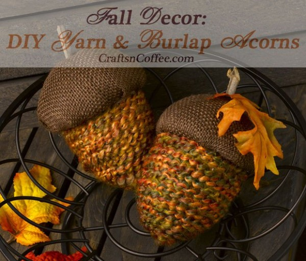 Make acorns out of extra yarn for a fun fall decoration.