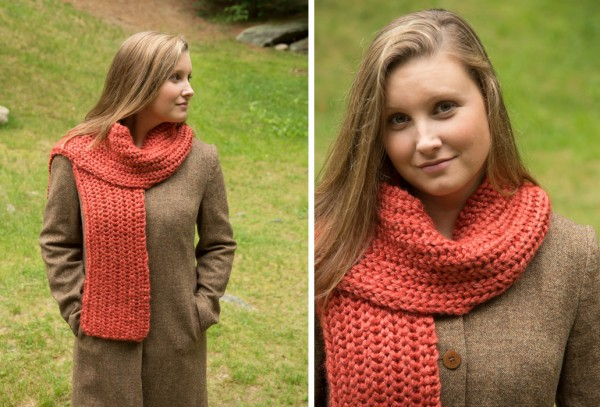 Try out fisherman's rib with this pretty scarf pattern.
