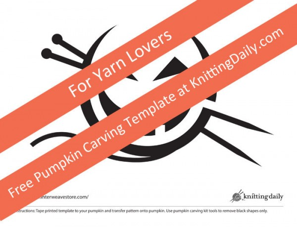 Knitting related pumpkin carving templates!