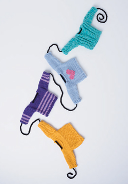 Knit a garland of wee sweaters with Vogue Knitting