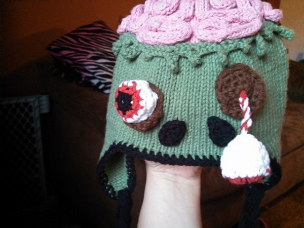 Zombie Brain Hat - Andreanna Pharis