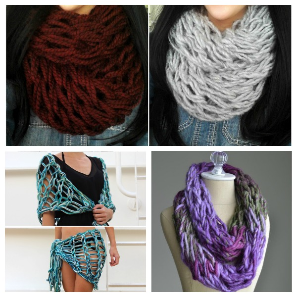 Knit Some Gifts (or Warmth for Yourself) Quick with Arm Knitting