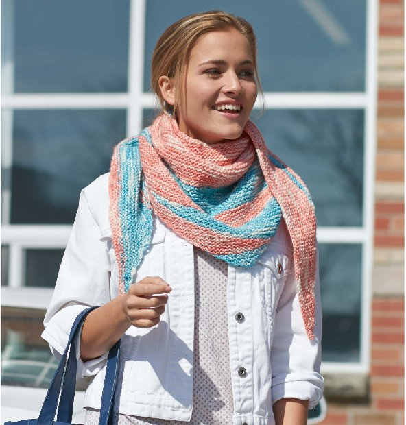 Master short rows with the Yin Yang Shawl from Patons.