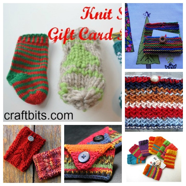 knit a gift card holder fo a semi-homemade gift
