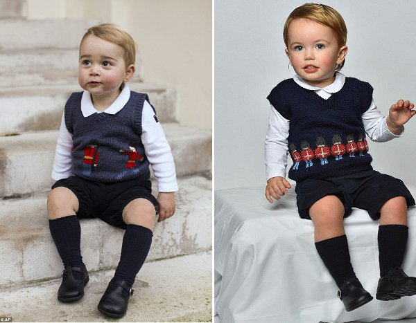 Knit a vest with standing guards similar to Prince George's!